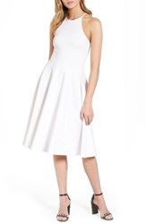 Soprano Women's Knit Midi Dress White
