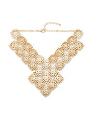 Saks Fifth Avenue Studded Necklace Gold
