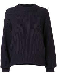 Helmut Lang Crew Neck Jumper Blue