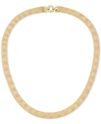 Macy's Textured Mesh Necklace In 14K Gold