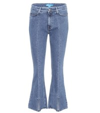 Mih Jeans Marty High Waisted Cropped Blue