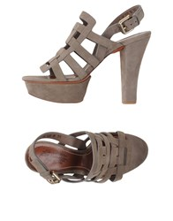 Santoni Footwear Sandals Women Grey