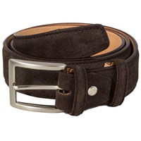 40 Colori Dark Brown Trento Leather Belt
