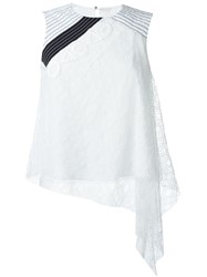 Peter Pilotto Embroidered Lace Asymmetric Blouse White