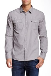 Micros Blind Textured Woven Shirt Gray