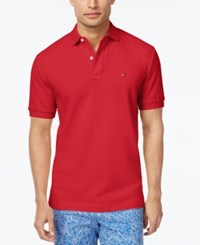 Tommy Hilfiger Men's Classic Fit Ivy Polo Poinsettia