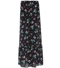 Red Valentino Silk Wide Leg Trousers Multicoloured