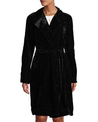 Bailey 44 Nikita Velvet Trench Coat Black
