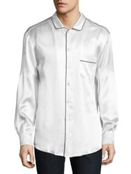 Dolce And Gabbana Silk Pajama Shirt White