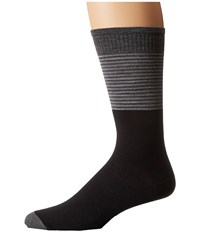 Smartwool Tailored Stripe Crew Black Men's Crew Cut Socks Shoes