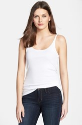 Women's Eileen Fisher Organic Cotton Tank White