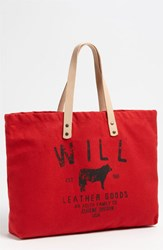 Will Leather Goods 'Small Classic' Tote Red