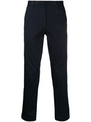 Closed Hanging Strap Trousers Blue