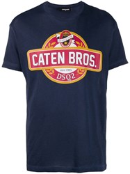 Dsquared2 Caten Bros T Shirt Blue