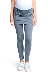 Maternal America Belly Support Maternity Leggings Charcoal