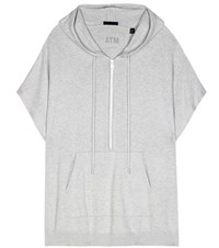 Atm Anthony Thomas Melillo Cotton And Cashmere Blend Hoodie Grey