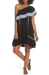 Muche Et Muchette Gavin One Shoulder Cover Up Dress Black White