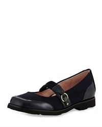 Taryn Rose Jannye Traveler Mary Jane Flat Black