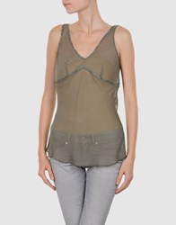 Fairly Topwear Tops Women Military Green