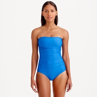 J.Crew Dd Cup Ruched Bandeau One Piece Swimsuit
