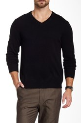 Qi Cashmere V Neck Sweater Black