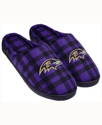 Forever Collectibles Baltimore Ravens Flannel Slide Slippers Purple
