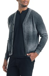Good Man Brand Modern Slim Fit Merino Wool Cardigan Black Grey