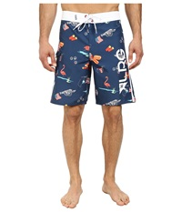 L R G July 47Th Boardshorts Nautical Blue Men's Swimwear
