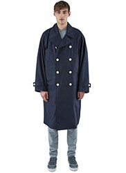 Marni Long Double Breasted Trench Coat Navy