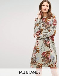 Y.A.S Tall Ilvaley Long Sleeve Printed Dress Multi