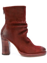 The Last Conspiracy Slouchy Ankle Boots Women Horse Leather Leather 39 Red