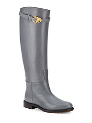 Valentino Knee High Boots Grey