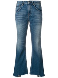 Haikure Flared Cropped Jeans Blue
