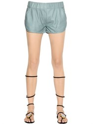 Drome Nappa Leather Shorts
