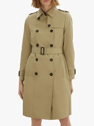 Jaeger Long Cotton Trench Coat Stone