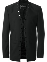 Unconditional Studded Open Front Blazer Black