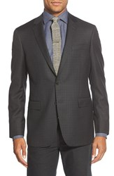 Men's Big And Tall Todd Snyder White Label Trim Fit Check Wool Sport Coat Dark Grey