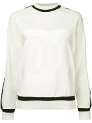 Chanel Vintage Long Sleeve Tops White