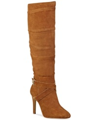 Guess Women's Daris Slouchy Tall Boots Women's Shoes Medium Brown Suede