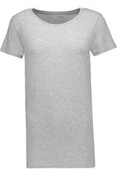 Majestic Stretch Jersey T Shirt Light Gray