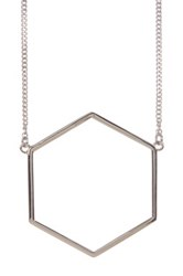 Marc By Marc Jacobs Lost And Found Geometric Pendant Necklace Metallic