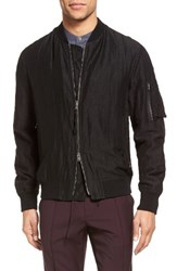 Vince Men's Linen And Silk Bomber Jacket