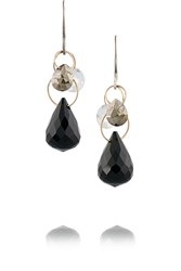 Melissa Joy Manning Sterling Silver Topaz Pyrite And Onyx Earrings