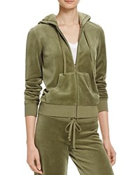 Juicy Couture Black Label Robertson Velour Zip Hoodie 100 Bloomingdale's Exclusive Olive