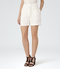 Reiss Dali Womens Relaxed Shorts In White
