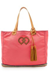Dsquared2 Cotton Tote With Leather Rose