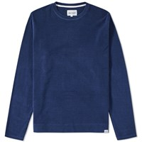 Norse Projects Halfdan Towelling Crew Sweat Blue