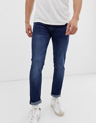 Only And Sons Skinny Jeans In Mid Blue