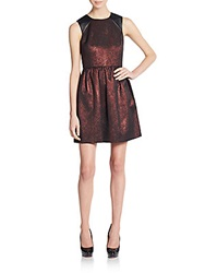4.Collective Lurex Jacquard Knit Fit And Flare Dress Red Multi