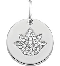 Thomas Sabo Love Coin Sterling Silver Engravable Lotus Pendant